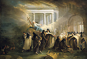 The Carmelites Arriving in Brussels',  Nuns, exhausted from a long journey, welcomed by their Sisters. Anonymous 18th century.
