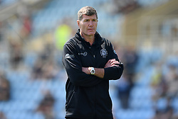 """File photo dated 30-05-2021 of Exeter Chiefs' director of rugby Rob Baxter before the Gallagher Premiership match at Sandy Park, Exeter. Rob Baxter has dismissed Wasps calling for a rugby-wide review on supporters wearing Native American headdresses as """"a bit of a non-story"""". Issue date: Wednesday October 13, 2021."""