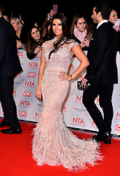 Rebekah Vardy attending the National Television Awards 2018 held at the O2 Arena, London. PRESS ASSOCIATION Photo. Picture date: Tuesday January 23, 2018. See PA story SHOWBIZ NTAs. Photo credit should read: Matt Crossick/PA Wire