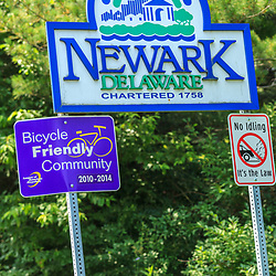 Newark, DE – June 24, 2013: City of Newark sign.