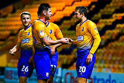 Timi Max Elsnik of Mansfield Town and Calum Butcher of Mansfield Town celebrate the winning goal - Mandatory by-line: Ryan Crockett/JMP - 13/11/2018 - FOOTBALL - One Call Stadium - Mansfield, England - Mansfield Town v Scunthorpe United - Checkatrade Trophy