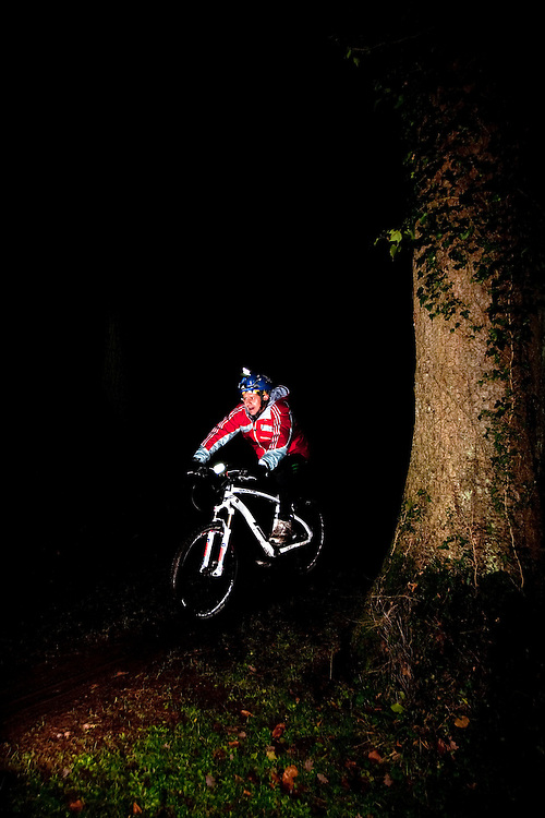 Mike Bushall during the night time mountain bike Training with AdidasTERREX on the Wenger Patagonia Expedition Race media day. 11/01/2011.Copyrighted work - Permission must be sought before use of this image..Alex Ekins +44 (0)7901 882994.