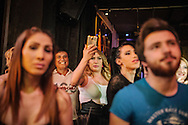 Beauty queens are photographed by the crowd at the Angel of Turkey beauty contest for trans women in Istanbul, Turkey.