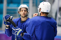David Rodman and Anze Kopitar at ice hockey practice one day before at IIHF World Championship DIV. I Group A Kazakhstan 2019, on April 28, 2019 in Barys Arena, Nur-Sultan, Kazakhstan. Photo by Matic Klansek Velej / Sportida