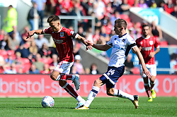 Jamie Paterson of Bristol City is closed down by Jed Wallace of Millwall - Mandatory by-line: Dougie Allward/JMP - 19/08/2017 - FOOTBALL - Ashton Gate Stadium - Bristol, England - Bristol City v Millwall - Sky Bet Championship
