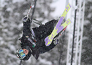 """SHOT 12/18/10 11:58:47 AM - Josiah """"Jossi"""" Wells competes in the Ski Superpipe Finals during the Nike 6.0 Open stop of the Winter Dew Tour at Breckenridge Ski Resort in Breckenridge, Co. The event features ski and snowboard slopestyle and superpipe. (Photo by Marc Piscotty / © 2010)"""