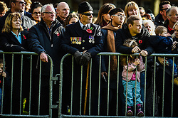 Veterans and members of the public during a Remembrance Sunday service in Queen's Square, Bristol, held in tribute for members of the armed forces who have died in major conflicts.
