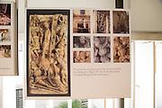 Information about restoration work, archaeology museum, Jerez de la Frontera, Cadiz Province, Spain