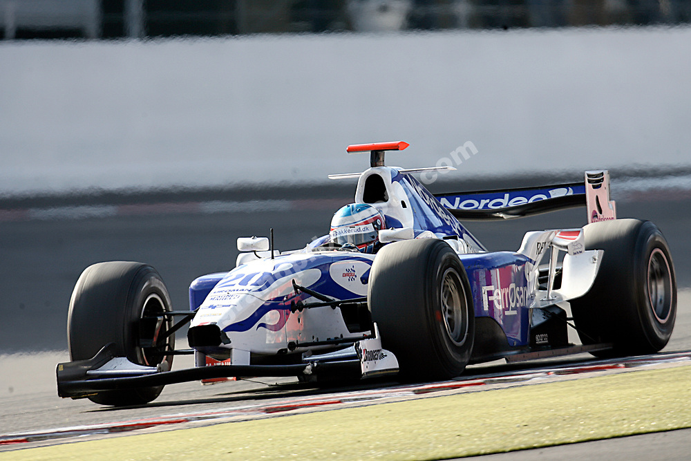 Christian Bakkerud (GP2) at the 2007 Belgian Grand Prix at Spa-Francorchamps. Photo: Grand Prix Photo