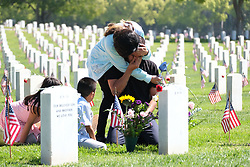 May 27, 2019, Los Angeles, California, U.S.: People pay respect to fallen soldiers during an observance for Memorial Day at the Los Angeles National Cemetery. Californians are paying their respects on Memorial Day to those who have died serving their country. (Credit Image: © Jason Ryan/ZUMA Wire).