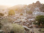 The Nubian tribe village of Nyaro, set in the Jebel mountains, in the Kordofan region of Sudan
