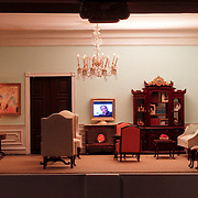 A scale model of the real White House is on display at the Reagan Library in Simi Valley, California. This is The Study.