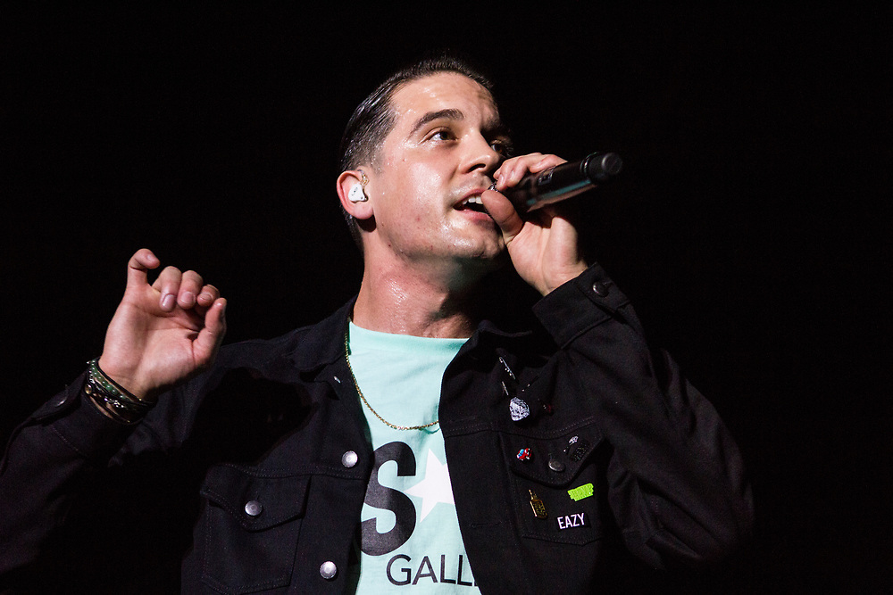 G-Eazy performing at the Aragon Ballroom in Chicago, IL on January 16, 2016.