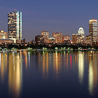 Scenic City of Boston skyline photography at twilight showing Boston Back Bay landmarks such as John Hancock building, Prudential Center and Mass Avenue bridge as seen from the Longfellow Bridge. <br /> <br /> Skyline photography images of Boston are available as museum quality photography prints, canvas prints, acrylic prints or metal prints. Prints may be framed and matted to the individual liking and decorating needs:<br /> <br /> http://juergen-roth.artistwebsites.com/featured/saturday-night-live-in-beantown-juergen-roth.html<br /> <br /> Good light and happy photo making!<br /> <br /> My best,<br /> <br /> Juergen<br /> www.RothGalleries.com<br /> www.ExploringTheLight.com<br /> http://whereintheworldisjuergen.blogspot.com<br /> @NatureFineArt
