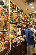 Angel Perez Nephews shop selling religious items, Calle Postas, Madrid city centre, Spain