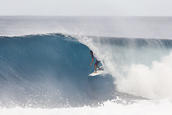 December 8, 2017 - Oahu, Hawaii, U.S. - - Luke Shepardson of Hawaii placed third in Heat 2 of Round One of the Quarter Finals of the Pipe Invitational at Pipe, Oahu. (Credit Image: © WSL via ZUMA Wire/ZUMAPRESS.com)
