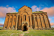 The cathedral of Ani, Also known as Surp Asdvadzadzin (church of the Holy Mother of God), its construction was started in the year 989, under King Smbat II.  Ani archaelogical site on the Ancient Silk Road , Kars , Anatolia, Turkey .<br /> <br /> If you prefer to buy from our ALAMY PHOTO LIBRARY  Collection visit : https://www.alamy.com/portfolio/paul-williams-funkystock/ani-turkey.html<br /> <br /> Visit our TURKEY PHOTO COLLECTIONS for more photos to download or buy as wall art prints https://funkystock.photoshelter.com/gallery-collection/3f-Pictures-of-Turkey-Turkey-Photos-Images-Fotos/C0000U.hJWkZxAbg