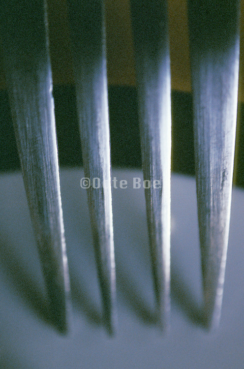 Abstract close up of a fork
