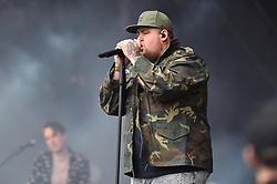 Rag and Bone Man performing during the Glastonbury Festival at Worthy Farm in Pilton, Somerset. Picture date: Sunday June 25th 2017. Photo credit should read: Matt Crossick/ EMPICS Entertainment.