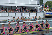 Henley. Great Britain.  Eton College, leads home, Abingdon School, during the Sat. afternoon heat of the Princess Elizabeth Challenge Cup. 175th  Henley Royal Regatta, Henley Reach. England. 15:27:25  Saturday  05/07/2014. [Mandatory Credit; Peter SPURRIER/Intersport-images]