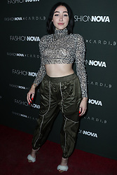 HOLLYWOOD, LOS ANGELES, CA, USA - NOVEMBER 14: Fashion Nova x Cardi B Collaboration Launch Event held at Boulevard3 on November 14, 2018 in Hollywood, Los Angeles, California, United States. 14 Nov 2018 Pictured: Noah Cyrus. Photo credit: Xavier Collin/Image Press Agency/MEGA TheMegaAgency.com +1 888 505 6342