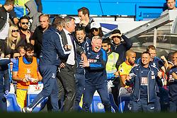 Crystal Palace celebrate winning 2-1 at Stamford Bridge - Mandatory by-line: Jason Brown/JMP - 01/04/2017 - FOOTBALL - Stamford Bridge - London, England - Chelsea v Crystal Palace - Premier League
