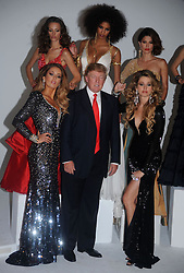 Donald Trump (C) and (L-R) Miss Ireland 2010 Rosanna Purcell, Miss Kosovo 2008 Zana Krasniqi, Miss France 2009 Chloe Mortaud, Miss Universe 2002 Justine Pasek, and Miss USA 2004 Shandi Finnessey attend a photocall at Chelsea Piers, Studio 59  in New York City on July 27, 2011. Photo by Dennis Van Tine/ABACAPRESS.COM  | 284294_008