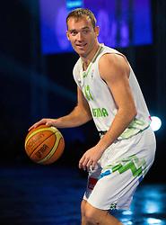Samo Udrih during FIBA Europe Eurobasket 2013 draw ceremony on November 18, 2012 in Postojna cave, Postojna, Slovenia. (Photo By Vid Ponikvar / Sportida)