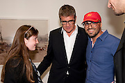 ANGELICA JOPLING; JAY JOPLING; ELAD LASSRY, The Photographers' Gallery Deutsche Borse Photography prize 2011.  Ambika P3. Baker St. London. 26 April 2011.  -DO NOT ARCHIVE-© Copyright Photograph by Dafydd Jones. 248 Clapham Rd. London SW9 0PZ. Tel 0207 820 0771. www.dafjones.com.