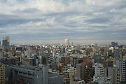 Aerial view of Tokyo, Japan.