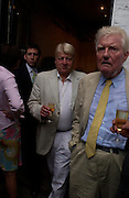 Stanley Johnson and Paul Johnson. Spectator party. Doughty St. London. 28 July 2005. ONE TIME USE ONLY - DO NOT ARCHIVE  © Copyright Photograph by Dafydd Jones 66 Stockwell Park Rd. London SW9 0DA Tel 020 7733 0108 www.dafjones.com