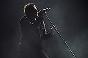 U2 performing on the 360º Tour 2011 at Busch Stadium in St. Louis, Missouri on July 17, 2011.