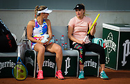Marta Kostyuk of the Ukraine playing doubles with Aliaksandra Sasnovich at the Roland Garros 2020, Grand Slam tennis tournament, on October 1, 2020 at Roland Garros stadium in Paris, France - Photo Rob Prange / Spain ProSportsImages / DPPI / ProSportsImages / DPPI