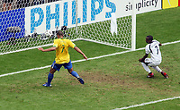 Photo: Chris Ratcliffe.<br /> Brazil v Ghana. Round 2, FIFA World Cup 2006. 27/06/2006.<br /> Adriano scoring the second goal.