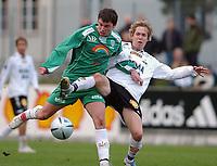 Fotball 2. div. 02.05.05, RBK 2 - Innstranden,<br /> Richard Wilmann (RBK) og Anders Karlsen<br /> Foto: Carl-Erik Eriksson, Digitalsport