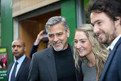 George Clooney at Social Bite Cafe, Rose Street, Edinburgh.