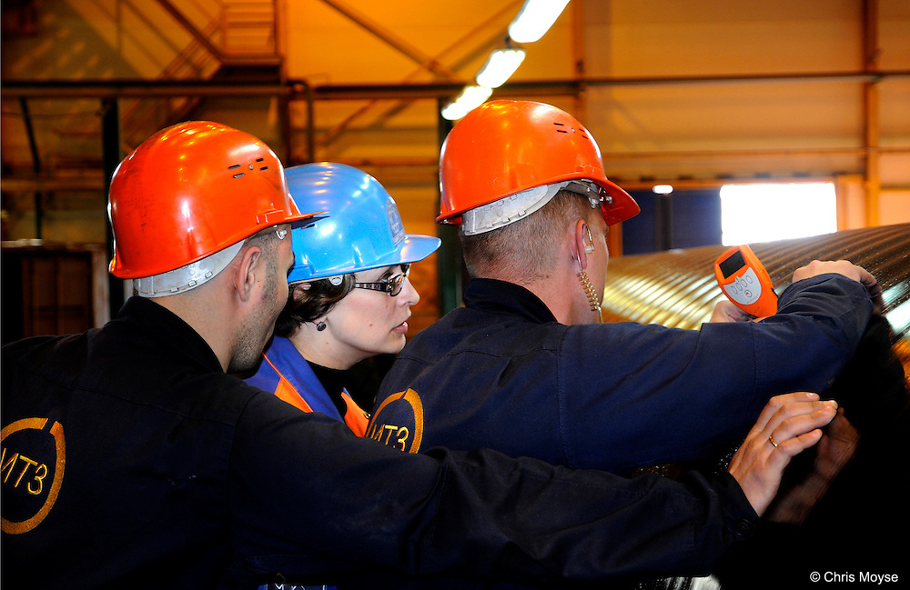 Pipe being inspected : Izhora Pipe Mill, Severstal ,  St Petersburg , Russian Federation