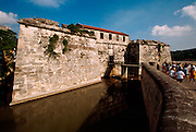 CUBA, HAVANA (HABANA VIEJA) Castillo Real de la Fuerza, oldest colonial fortress in the Americas and a key part of the city's defenses