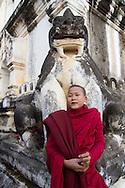 Novice monk at the Pagoda Festival in Bagan, Myanmar (Burma).