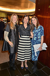 Left to right, GEORGINA KRON, Gabriela Lanardonne & Elizabeth Ellis at a ladies lunch in aid of the charity Child Bereavement UK held at The Bulgari Hotel, 171 Knightsbridge, London on 25th February 2016.