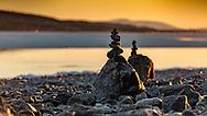 JÄMTLANDSBILDER <br /> Stenformationer på Storsjöns strand. <br /> Foto: Per Danielsson