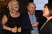 MAJELLA OWENS;  JEN KELLY; POLLY MCGETTIGAN;  The Arthur Cox Irish Fashion Showcase 2015,  Irish based designers chosen to be part of this year's Arthur Cox Irish Fashion Showcases The Mall Galleries, London. 13 May 2015.