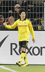 11.12.2010, Signal Iduna Park, Dortmund, GER, 1.FBL,  Borussia Dortmund vs Werder Bremen, im Bild Shinji Kagawa (Dortmund JPN #23) jubelt nach dem 2:0-Tor, EXPA Pictures © 2010, PhotoCredit: EXPA/ nph/  Scholz       ****** out ouf GER ******