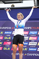 Podium, Ellen van Dijk (Netherlands) gold medal women Time Trial during the Road Cycling European Championships Glasgow 2018, in Glasgow City Centre and metropolitan areas Great Britain, Day 7, on August 8, 2018 - Photo Laurent Lairys / ProSportsImages / DPPI