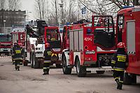 17.04.2013 Bialystok n/z cwiczenia Panstwowej Strazy Pozarnej fot Michal Kosc / AGENCJA WSCHOD