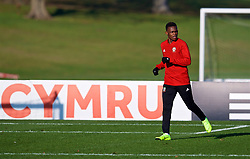CARDIFF, WALES - Sunday, November 18, 2018: Wales' Rabbi Matondo during a training session at the Vale Resort ahead of the International Friendly match between Albania and Wales. (Pic by David Rawcliffe/Propaganda)