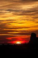 A winters sunset on the Alabama Gulf Coast near the city of Orange Beach.