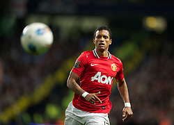 MANCHESTER, ENGLAND - Monday, April 30, 2012: Manchester United's Nani in action against Manchester City during the Premiership match at the City of Manchester Stadium. (Pic by David Rawcliffe/Propaganda)