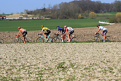 The main chase group including Greg Van Avermaet (BEL) CCC Team, Wout Van Aert (BEL) Jumbo-Visma, Ian Stannard (GBR) Team Sky, Tiesj Benoot (BEL) Lotto-Soudal and Peter Sagan (SVK) Bora-Hansgrohe on Elsstraat during the 2019 E3 Harelbeke Binck Bank Classic 2019 running 203.9km from Harelbeke to Harelbeke, Belgium. 29th March 2019.<br /> Picture: Eoin Clarke | Cyclefile<br /> <br /> All photos usage must carry mandatory copyright credit (© Cyclefile | Eoin Clarke)
