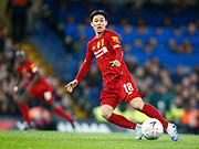 Liverpool's Takumi Minamino in action during the English FA Cup fifth round soccer match between Chelsea and Liverpool at Stanford Bridge Stadium, Wednesday, March 3, 2020, in London, United Kingdom. (ESPA-Images/Image of Sport)